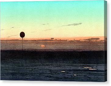 Gaston Tissandier's Balloon Silhouette Canvas Print by Universal History Archive/uig