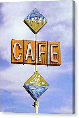 Gaston's Cafe Canvas Print by Ron Regalado