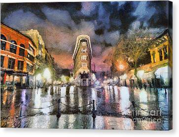 Gastown Canvas Print by Jim  Hatch