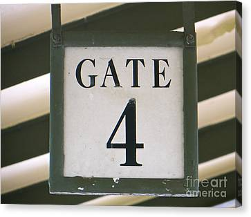 Canvas Print featuring the photograph Gate #4 by Joy Hardee