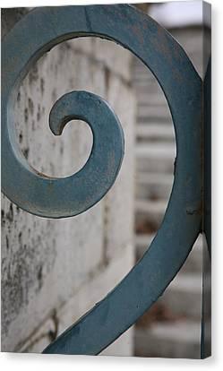 Canvas Print featuring the photograph Gate Detail...versailles by Lynn England