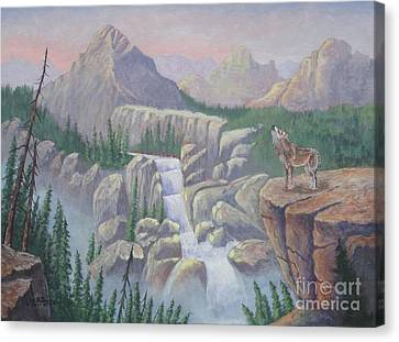 Gate Keeper Of The Canyon Canvas Print
