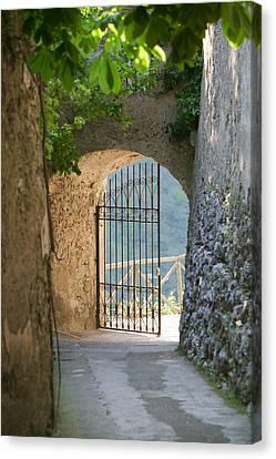 Villa Canvas Print - Gate Of A Villa, Ravello, Salerno by Panoramic Images