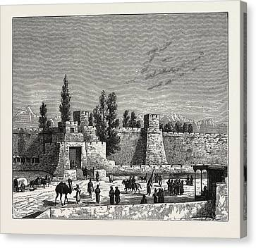 Tangy Canvas Print - Gate Of The Fort Of Tangy-shahr, Five Miles From Kashgar by English School