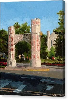 Gate On Parrington Oval At Ou Canvas Print