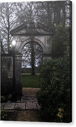 Gate With Lamp Post Canvas Print by Joana Kruse