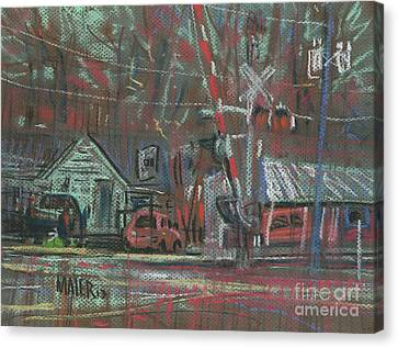 Gated Crossing Canvas Print by Donald Maier