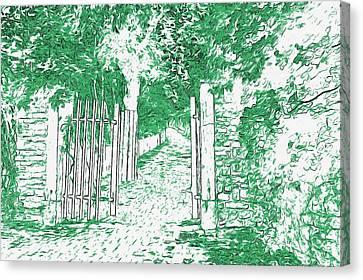 Gated Path Canvas Print