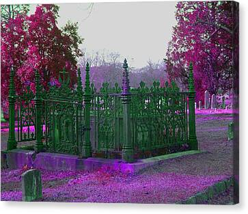 Canvas Print featuring the photograph Gated Tomb by Cleaster Cotton