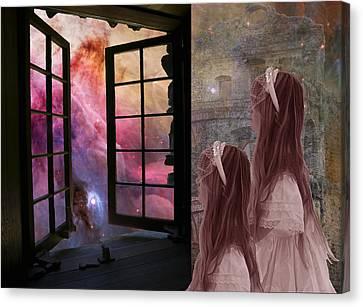 Gates Of Heaven-regarder La Fin Du Monde Canvas Print
