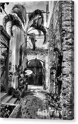 Gates Of St Thomas 1 Bw Canvas Print by Mel Steinhauer