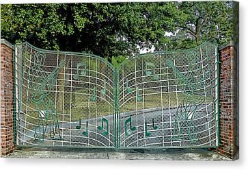 Gates To Graceland Canvas Print by Mountain Dreams