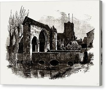Gateway And Bridge, Waltham Abbey, Uk Canvas Print by Litz Collection