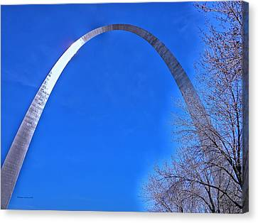 Gateway Arch St Louis 03 Canvas Print by Thomas Woolworth