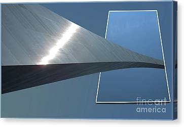 Gateway Arch St Louis 05 Canvas Print by Thomas Woolworth