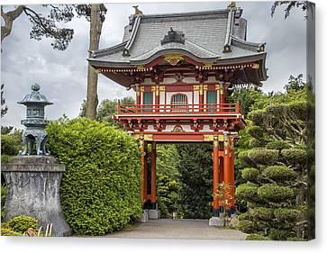 Buddhist Canvas Print - Gateway - Japanese Tea Garden - Golden Gate Park by Adam Romanowicz