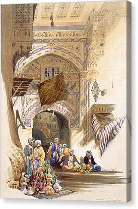Gateway Of A Bazaar, Grand Cairo, Pub Canvas Print by A. Margaretta Burr