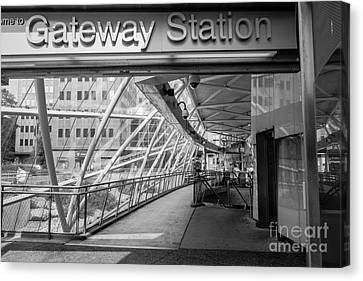 Gateway T Station  Pittsburgh Canvas Print by Amy Cicconi
