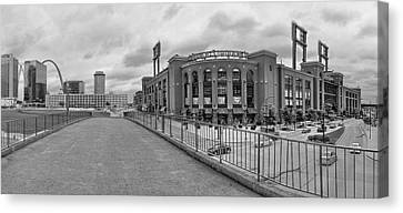 Gateway To Busch Black And White Canvas Print