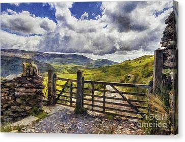 Gateway To Freedom Canvas Print by Ian Mitchell
