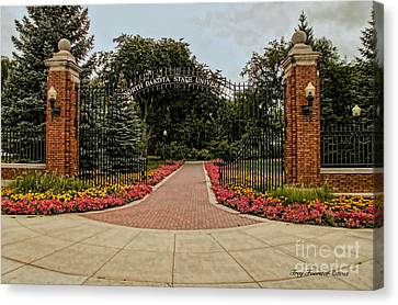 Canvas Print featuring the photograph Gateway To Ndsu by Trey Foerster