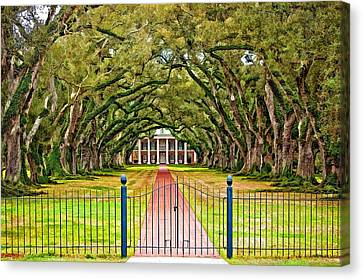 Gateway To The Old South Paint Canvas Print by Steve Harrington