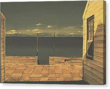 Gateway To The Sea Canvas Print by Diane Strain