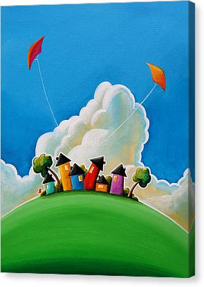 Houses Canvas Print - Gather Round by Cindy Thornton