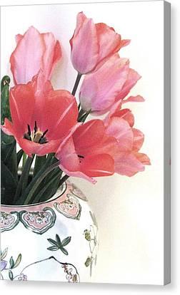 Gathered Tulips Canvas Print