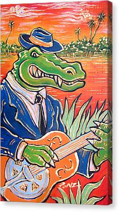 Gator Boogie Canvas Print by Robert Ponzio