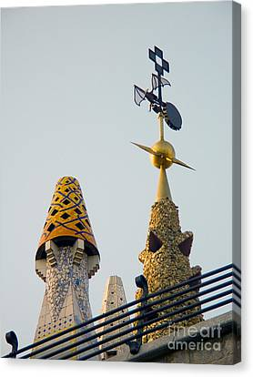 Gaudi Building Detail Canvas Print by Tim Holt