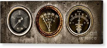 Gauges  Canvas Print by Olivier Le Queinec