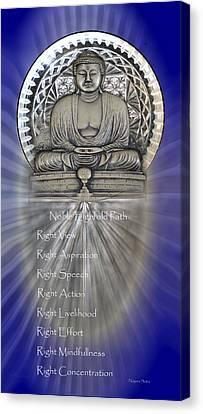 Gautama Buddha - The Noble Eightfold Path Canvas Print
