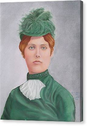 Gay 90's Lady Canvas Print by Ruth Seal