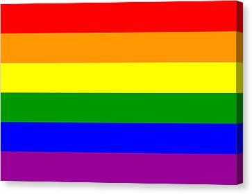 Gay Pride Flag Canvas Print by Tilen Hrovatic