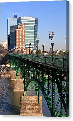 Gay Street Bridge Knoxville Canvas Print by Melinda Fawver