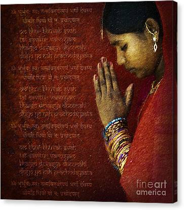 Gayatri Mantra Canvas Print by Tim Gainey