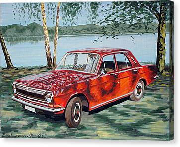 Gaz 24 Volga Canvas Print by Rimzil Galimzyanov