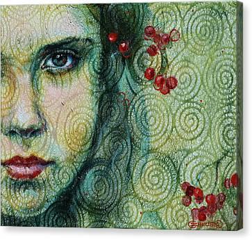 Gaze Canvas Print by Oksana Zhelisko