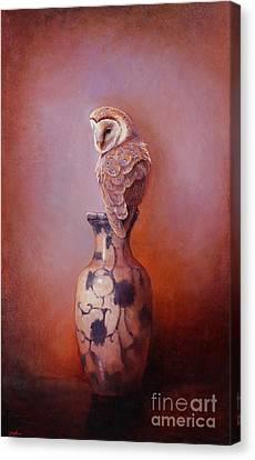 Gazing - Barn Owl Canvas Print