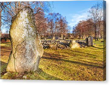 Gazing Into The Past - Standing Stones In Scottish Highlands Canvas Print