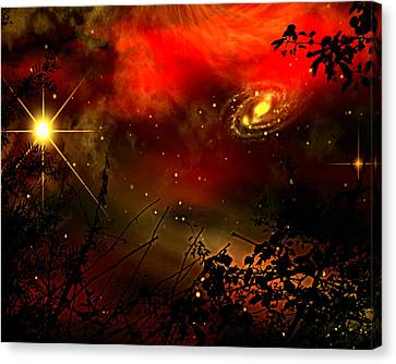 Canvas Print featuring the painting Gazing The Galaxy by Persephone Artworks