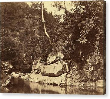 G.b. Gething British, Active C.1850s, River Scene Canvas Print by Quint Lox