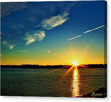 Gc Lake Sunrise Canvas Print