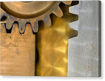 Gear Abstract Canvas Print by Bill Mock