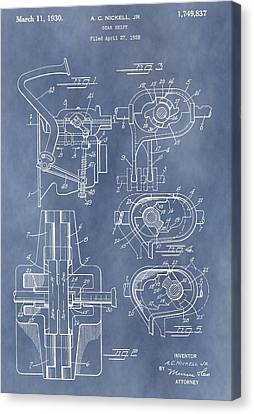 Floor Canvas Print - Gear Shift Patent by Dan Sproul