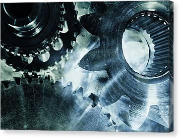 Gears And Cogwheels Canvas Print