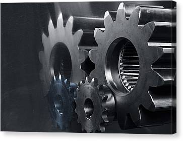 Gears And Power Canvas Print by Christian Lagereek