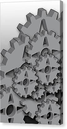 Iphone 4s Cases Canvas Print - Gears  by Andre Brands