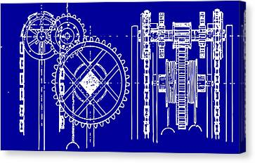 Gears Blueprint Canvas Print by
